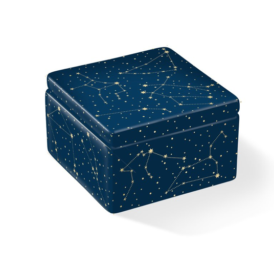 Ceramic Celestial box with lid