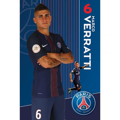 Paris Saint Germain F.C. Poster Veratti 56