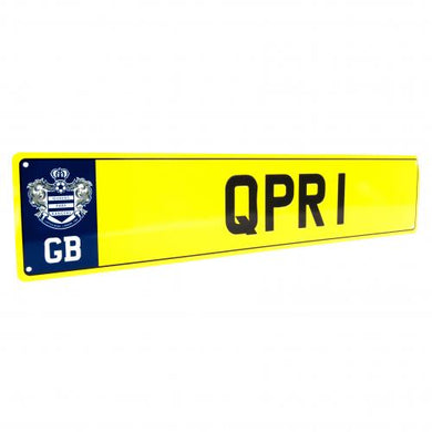 Queens Park Rangers F.C. Number Plate Sign