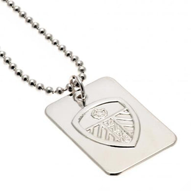 Leeds United F.C. Silver Plated Dog Tag & Chain