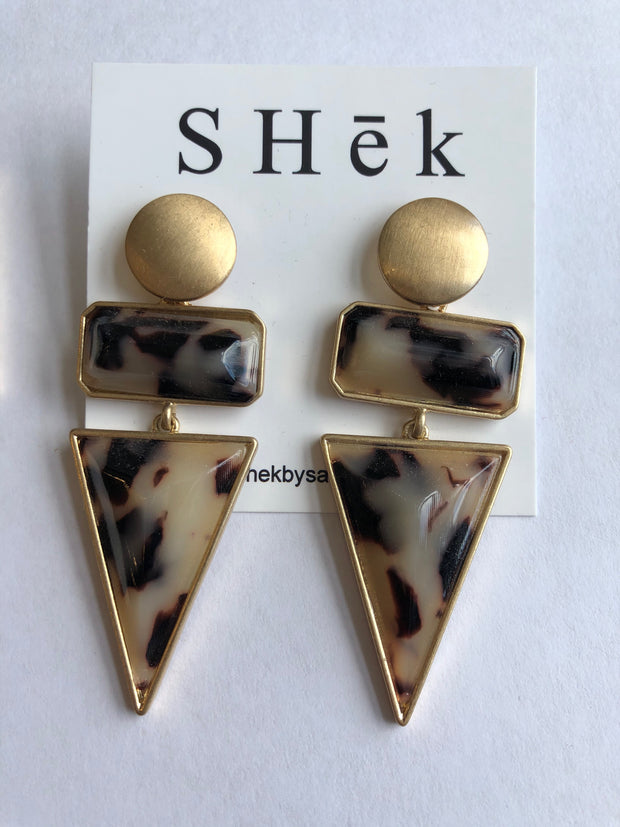 Geo Tortoise Earrings