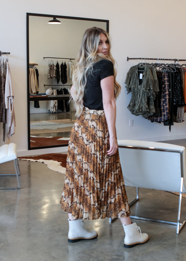 Python Pleated Skirt