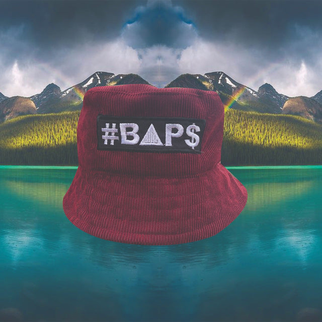 #BAP$ Bucket Hat - Burgandy