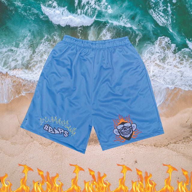 #BAP$ Shorts - Monkey Shorts - Blue