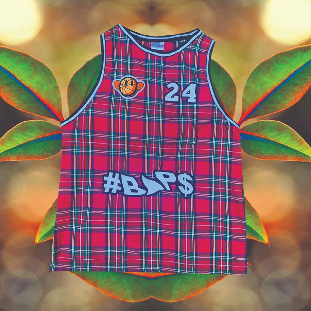 #BAP$ Basket Ball Vest- Checked Red