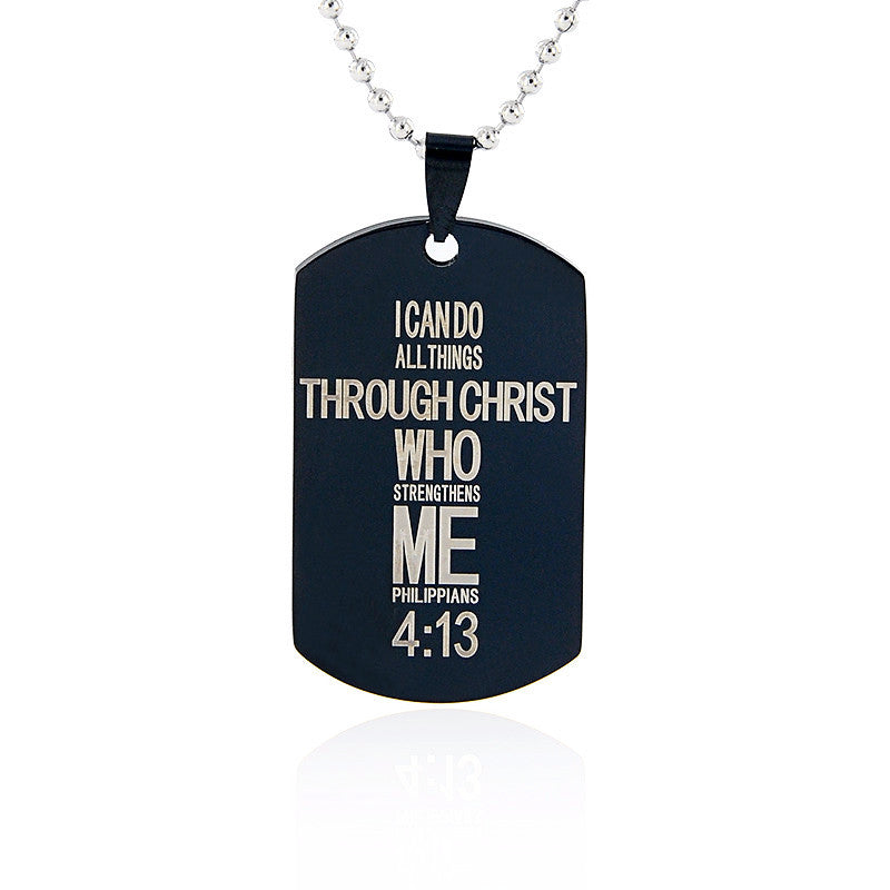 I Can Do All Things Through Christ (Pendant)