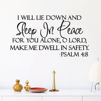 Sleep In Peace (Wall Decal Sticker)