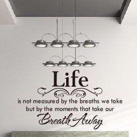 Home and Life Quotes (Wall Sticker)