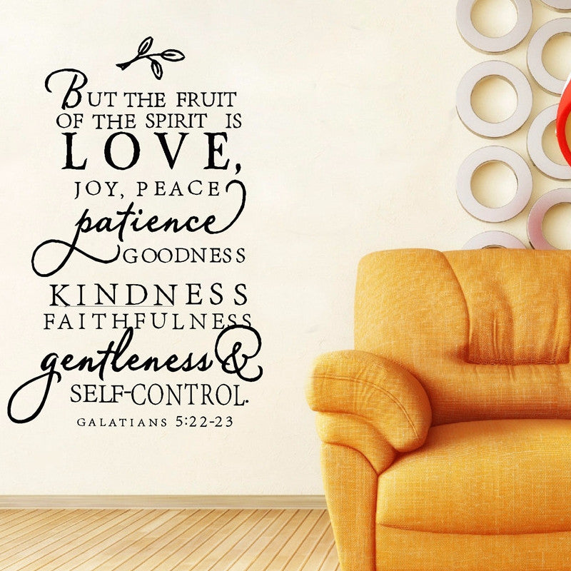 The Fruit of the Spirit (Wall Decal Sticker)