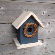 Birdhouse USA Handmade in Door County, WI. Outdoor Birdhouse for Wrens, Finches, Chickadees.