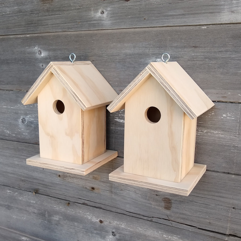 Unfinished Wood Camper Tailor Birdhouse Stain or Paint to Suit Your Needs