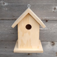 Unfinished Birdhouse.  USA Handmade. Ready to paint DIY birdhouse.