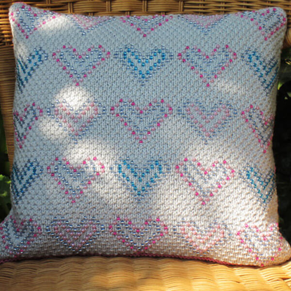 Sweetheart Cushion Cover Knitting Kit