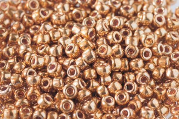 Metallic Gold Beads - Code 562