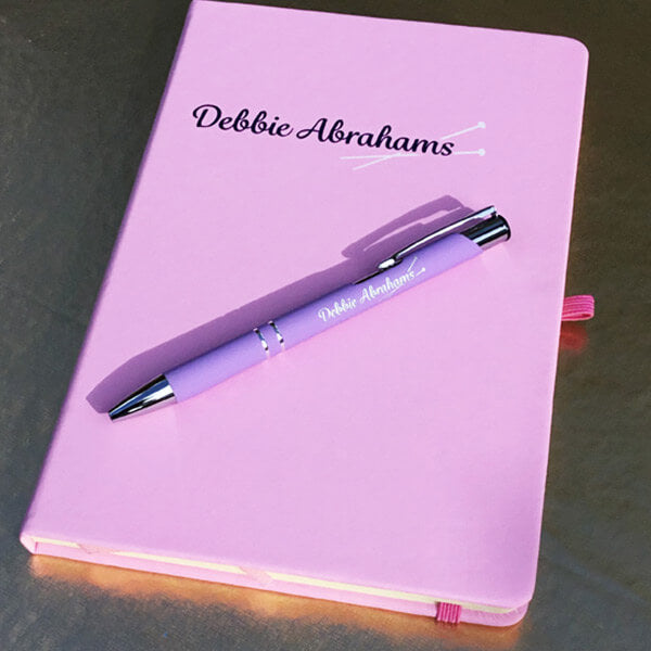 Debbie Abrahams Notebook and Pen