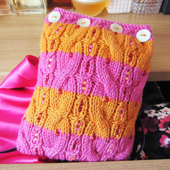 Wiggle lavender bag knitting kit
