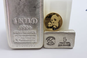 Gold coins and Silver Bars
