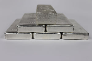 Pyramid of Silver Kilo Bars
