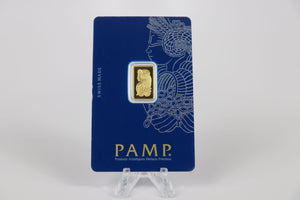 2.5 gram Gold Bar Pamp Suisse (In Assay)