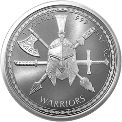 1 oz Silver Spartan Warrior Round