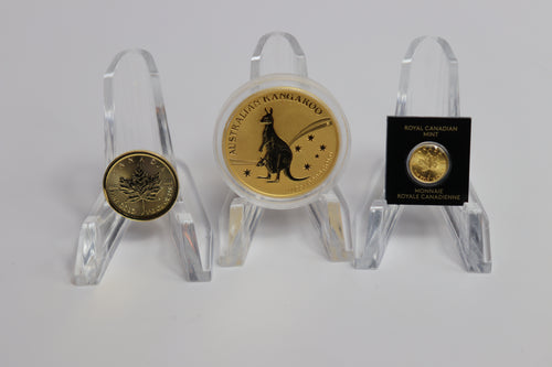 Gold Coins different sizes