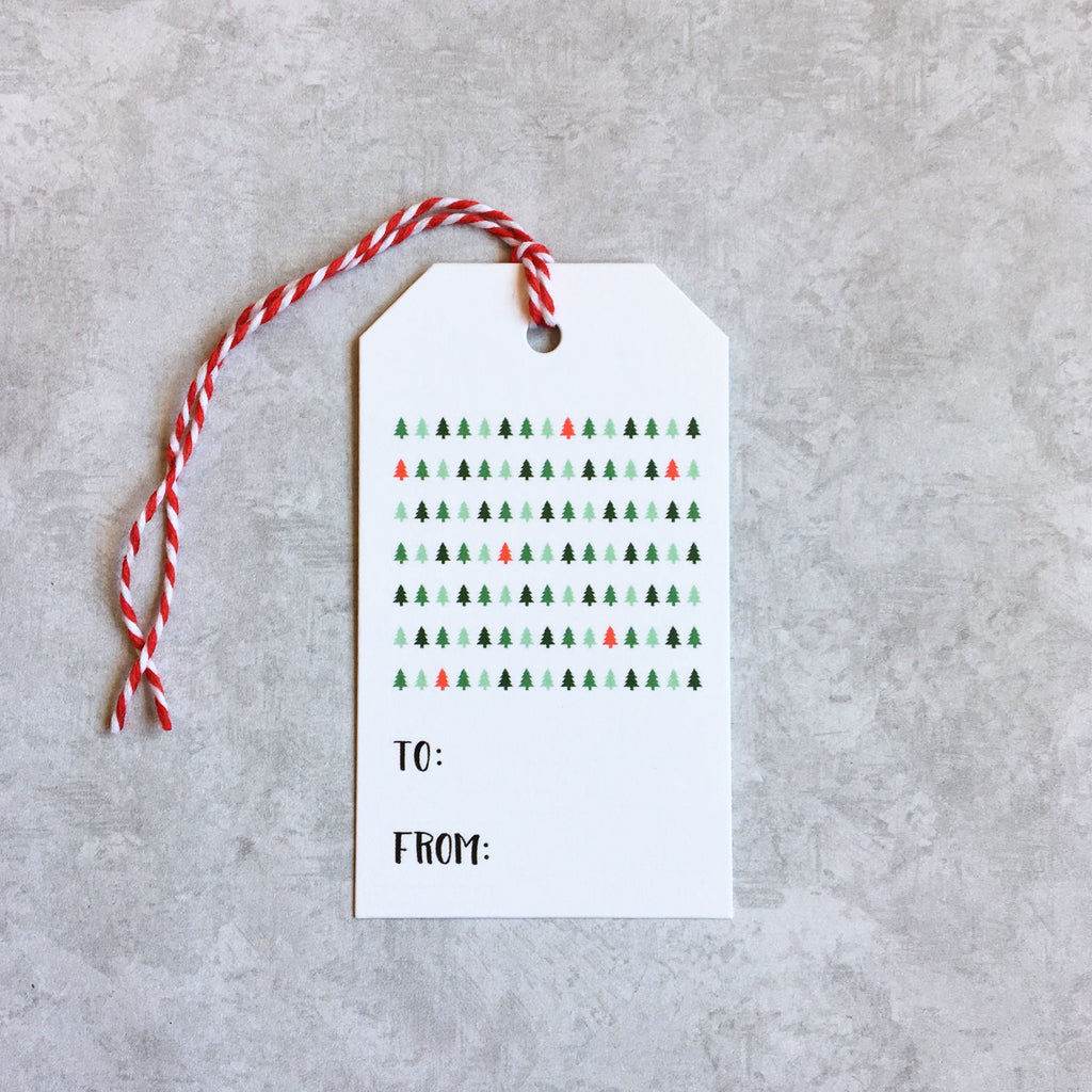 Pack of 6 Christmas Tree Gift Tags