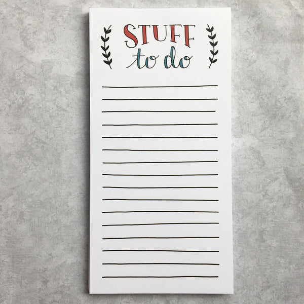 Stuff To Do Notepad with Magnet