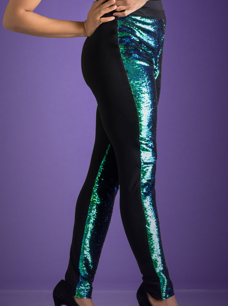 Flip Sequin Dual Tone Legging Mermaid