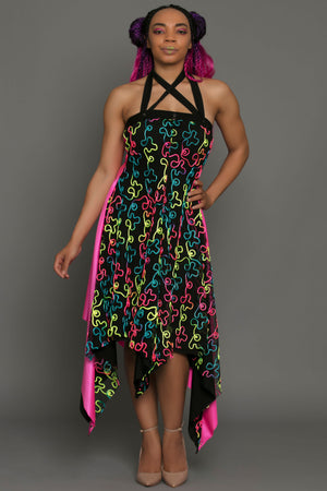 Blacklight Reactive Convertible Snap Dress