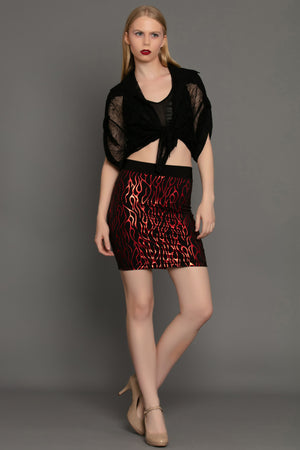 Red Flame Convertible Bandeau Skirt/Top