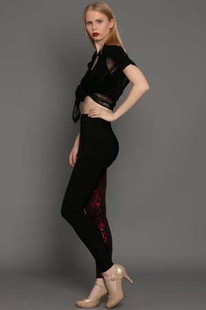 Red Flame Dual Tone Legging