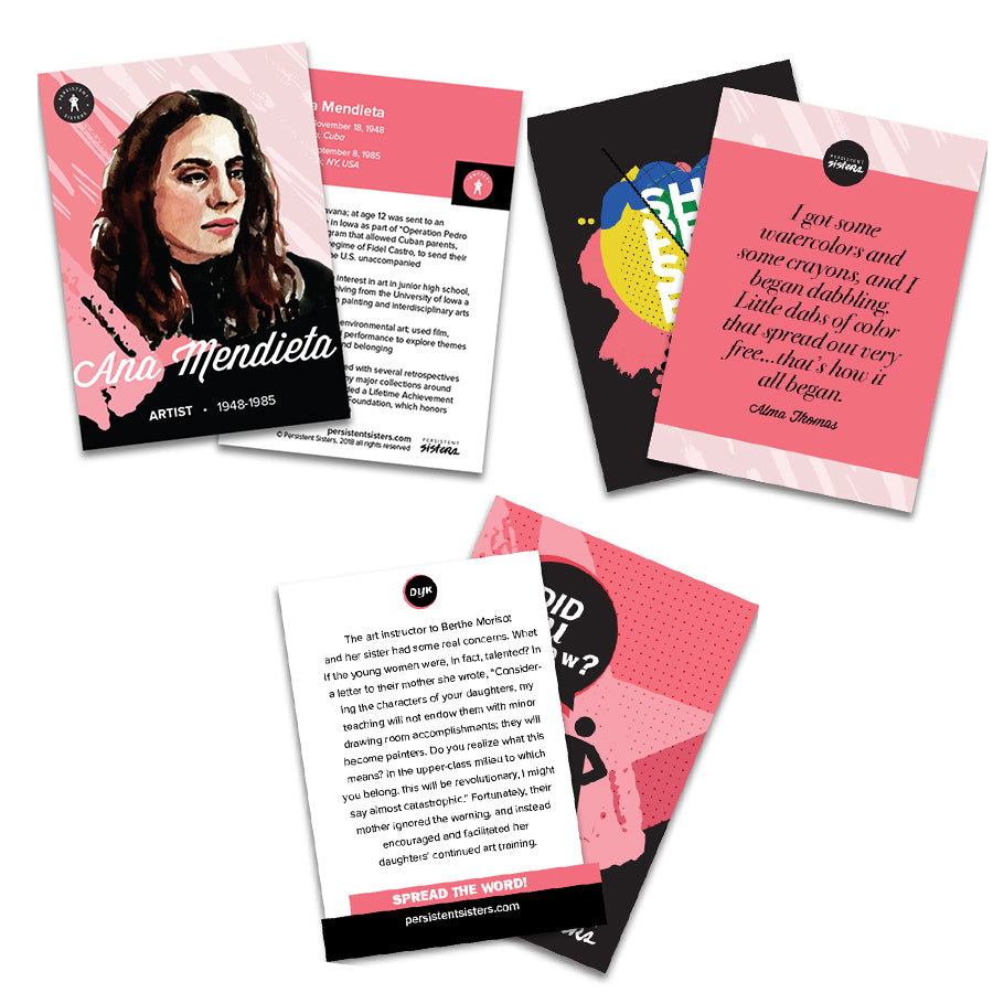 Women's History Trading Cards Artist 30 Card Deck