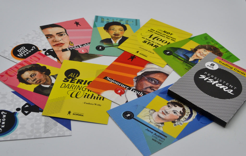Women's History Trading Cards Trailblazers 8-Pack