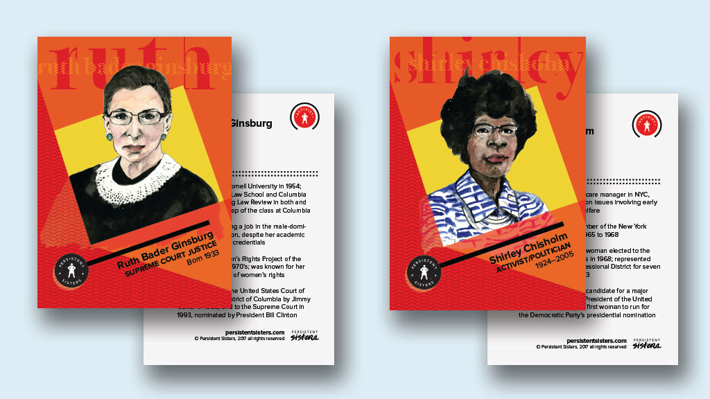 Women in Politics: 10 Trading Cards featuring the Bold Women who Paved the Way