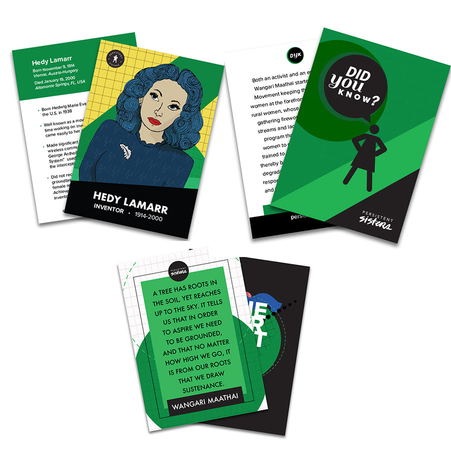 Women's History Trading Cards S.T.E.M. 30 Card Deck