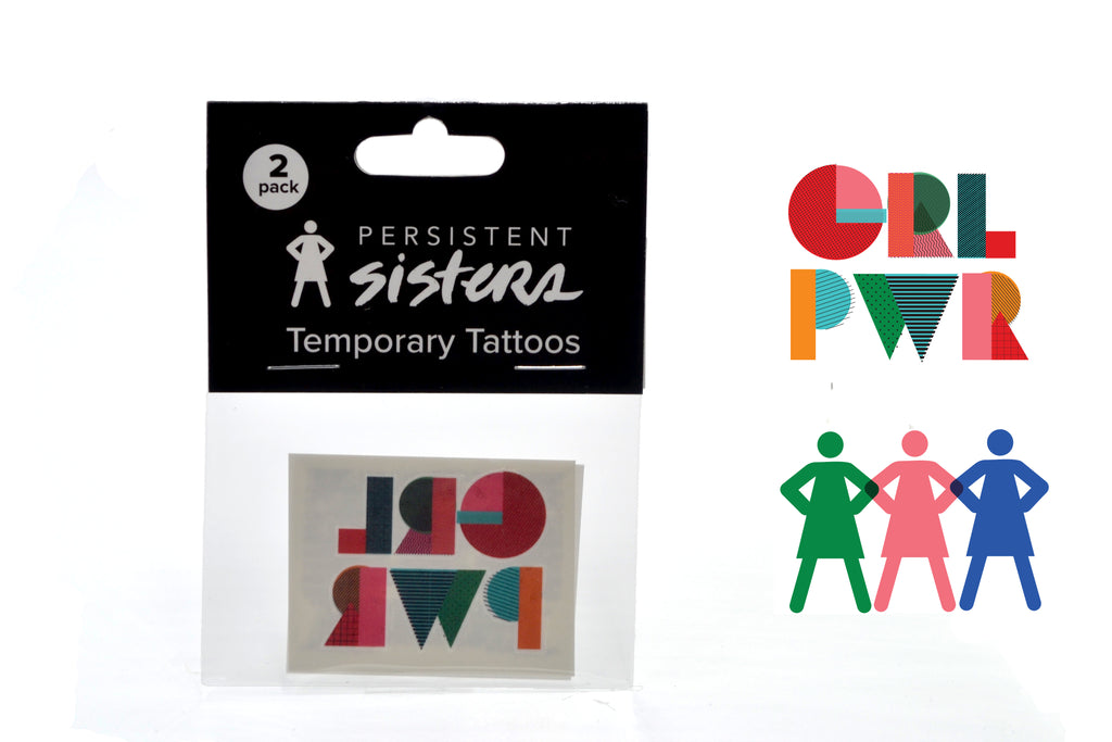 GRLPWR Temporary Tattoo 2-pack