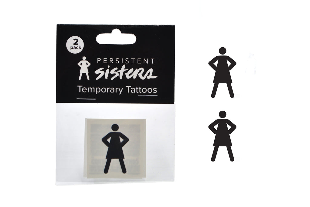 Persistent Sisters Logo Temporary Tattoo 2-pack