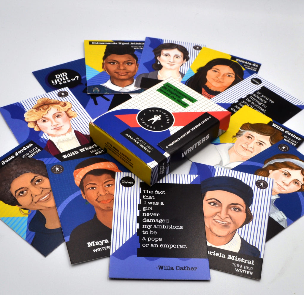 Women's History Trading Cards Writer 30 Card Deck
