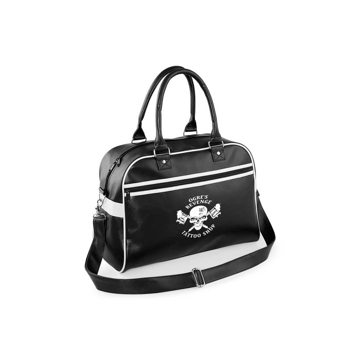 Ogres Revenge Tattoo Shop Bowling Bag - Made From PU For That Old School Leather Look