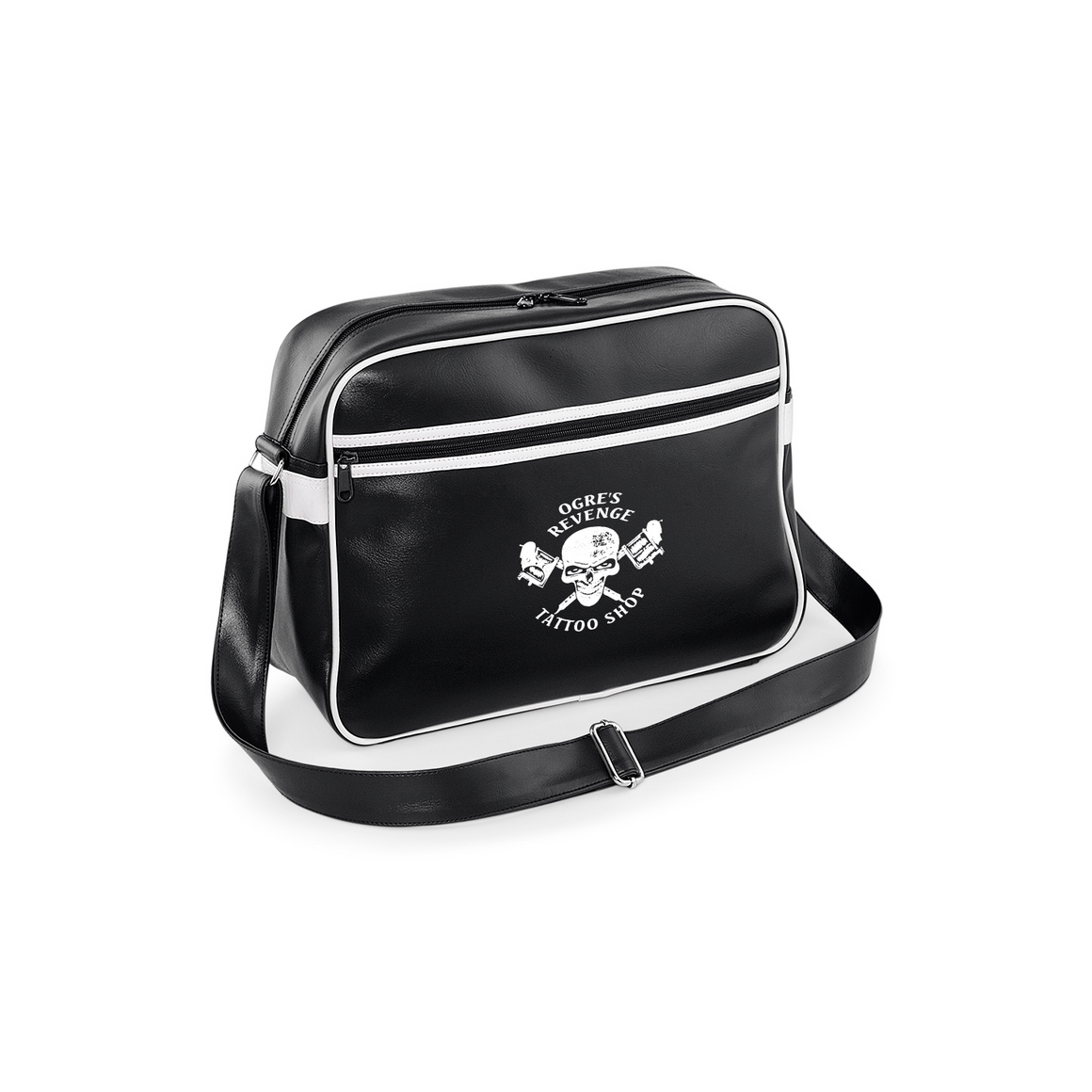 Ogres Revenge Tattoo Shop Shoulder Bag - Made From PU For That Old School Leather Look