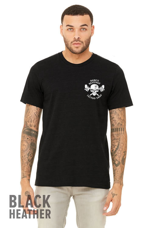 Ogres Revenge T-Shirt in Black Heather Sizes S-XL
