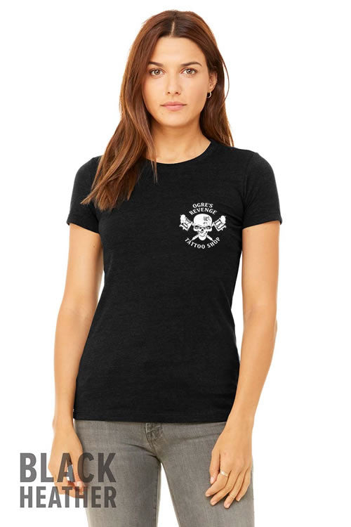 Womens Ogres Revenge T-Shirt in Black Heather Sizes S-XL