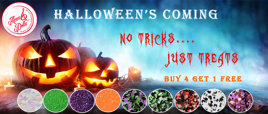 Aces & Dolls Halloween Glitter Collection
