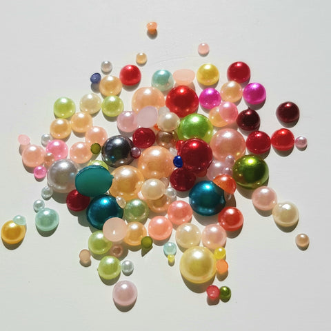 Half Pearls - Multicoloured