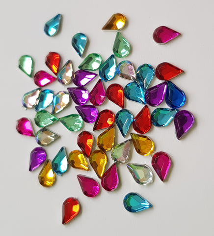 Teardrop Rhinestones - Multicolour