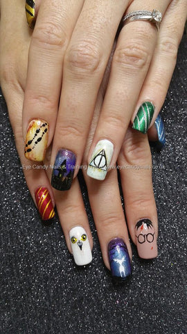 Freehand Nail Art Design