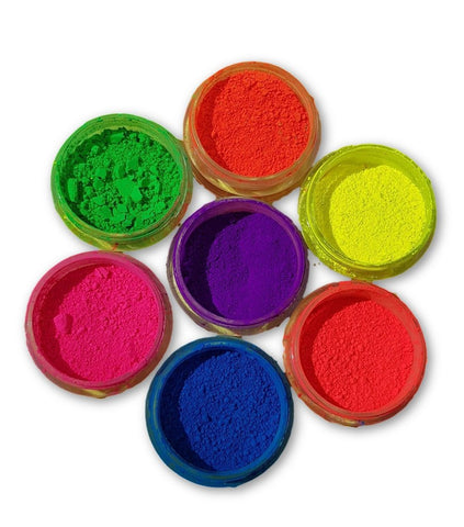 Set of 7 Neon Pigment Powders