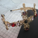 Jeweled Cross Italian Designer Style Headband