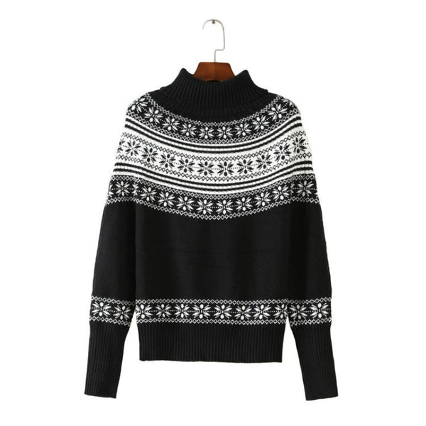 Black and White Fair Isle Sweater