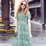 Fit and Flare Elegant Lace Dress